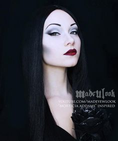 Morticia Addams #Halloween #makeup tuotrial plus 9 other looks - don't forget to take 'thing' with you...x