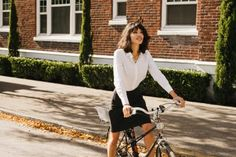 Pencil skirt with special converter zip to make cycling possible :)