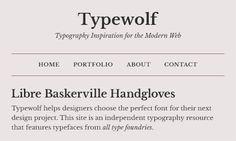 Libre Baskerville Font Sample