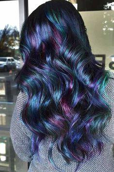 Top 40 Opal oil slick hair color 2018 - Hair World Hair Color 2018, Ombre Hair Color, Peacock Hair Color, Galaxy Hair Color, 2018 Color, Perfect Hair Color, Cool Hair Color, Hair Colors, Oil Slick Hair Color