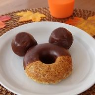 Mickey Donuts  - so easy to make! A fun break fast to surprise kiddo with news of trip to Disney