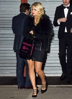 Lottie Moss Photos Leaving Club Love in Benefit of Elton John Aids Foundation