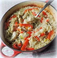 Oven Baked Thai Chicken and Rice Recipe Main Dishes with vegetable oil, onions, mini chicken fillets, fillets, thai green curry paste, rice, red pepper, lime, reduced fat coconut milk, boiling water, cilantro leaves