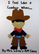 """I feel like a cowboy when..."" class book using cricut via www.pre-kpages.com"