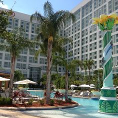 Hilton Orlando pool. Time to relax.