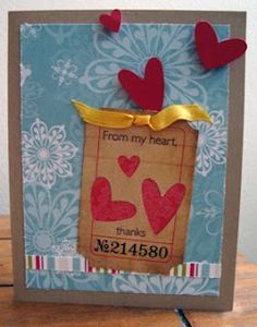 Heartfelt thank you card inspired by Tim Holtz