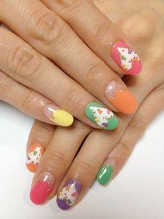 unhas decoradas com oncinhas várias cores 2