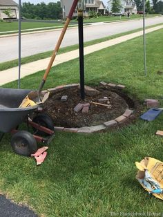 How To Install Brick Garden Borders…The Easy Way! is part of garden Borders Edging - Brick Borders The Easy Way Patio Edging, Brick Garden Edging, Garden Pavers, Lawn And Garden, Garden Beds, Rock Edging, Backyard Walkway, Brick Walkway, Backyard Seating