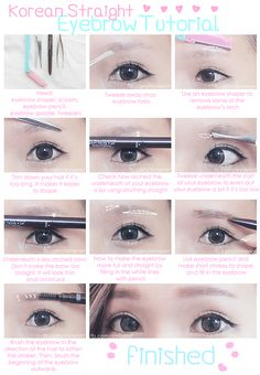 RinnieRiot: Korean Straight Eyebrow Tutorial!