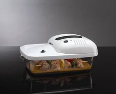 The Deni Marinizer marinates your food in minutes! This unit will save you time and keep your food fresh.