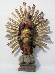 Barock Madonna Süddeutsch Antiques