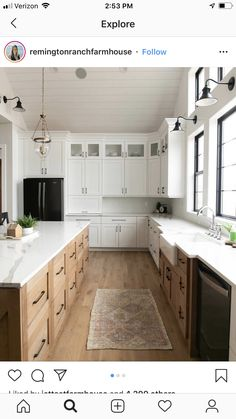 The farmhouse kitchen will never go out of style. Get the look, like this white oak floor with Bona Ultra Matt Finish, with the help of a Bona Certified Craftsman. Photo: Gowler Homes Kitchen Redo, Home Decor Kitchen, Rustic Kitchen, Kitchen Interior, New Kitchen, Home Kitchens, Kitchen Pics, White Oak Kitchen, Modern Farmhouse Kitchens