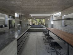 House is a concrete holiday retreat designed by Luciano Kruk in Costa Esmeralda, Buenos Aires, Argentina. Concrete House in Argentina Concrete Architecture, Interior Architecture, Interior Design, Interior Ideas, Jungle House, Concrete Houses, Exposed Concrete, D House, Rooftop Pool