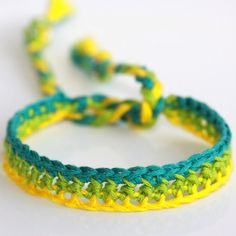 Crocheted Bracelet - 'Upbeat Bore'
