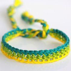Crocheted Bracelet - 'Upbeat Bore'