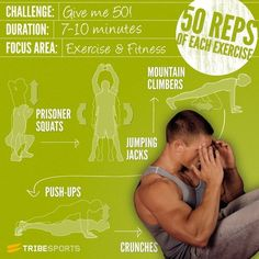 Give me 50! 5 moves - 50 reps, GO GO GO! #challenge #fitness #abs #workout #exercise