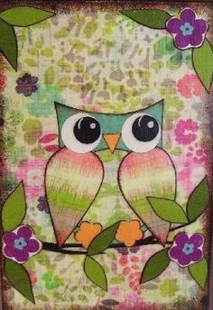 Flower tree owl