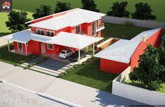 Planta de Sobrado - 4 Quartos - 316.51m² - Monte Sua Casa