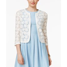 Dorothy Perkins Embroidered lace cardigan ($49) ❤ liked on ...