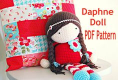 Crochet Doll PDF Pattern- The Daphne Doll Crochet Pattern