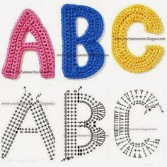 Crochet Letters! Everyone has heard of crochet hats and booties and blankets but what if you want to monogram something?? Or make giant ...