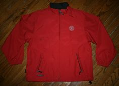 Mens SUN MOUNTAIN full-zip red Golf Jacket polyester windbreaker-L-Orchard Hills