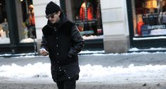http://chicerman.com  billy-george:  That black on black look Photo by George Elder  #streetstyleformen