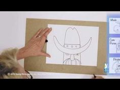 Teaching Kids How to Draw: How to Draw a Cowboy Hat - YouTube