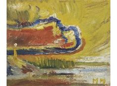 Mauno Markkula: Pilvinen taivas, öljy levylle, 19x23 cm - Hagelstam K123