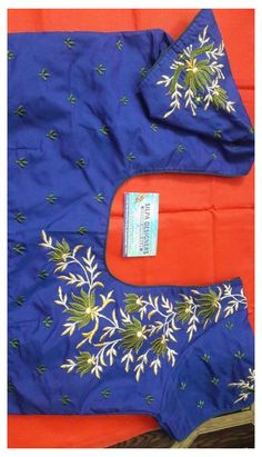 Hand Work Blouse Design, Simple Blouse Designs, Silk Saree Blouse Designs, Stylish Blouse Design, Bridal Blouse Designs, Blouse Neck Designs, Blouse Patterns, Kurti Embroidery Design, Embroidery Neck Designs