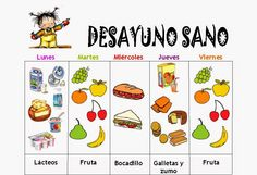 Trabajando en Educación Infantil: Desayunos saludables 1 Classroom Rules, 4 Kids, Dental, Projects, Spanish, David, Food, Outfits, Children's Magazines