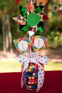 Jackson's First Birthday - Carnival, Circus, Centerpieces For Jazmin Candyland party theme Carnival Birthday Parties, Circus Birthday, Rainbow Birthday, Circus Party, First Birthday Parties, Boy Birthday, First Birthdays, Circus Theme, Birthday Ideas