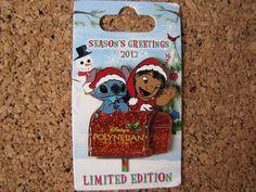 Disney LE Trading Pin - Lilo & Stitch Polynesian Resort Hotel Christmas - 93413