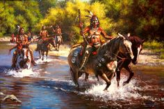 """"""" Wolf Creek Crossing """" by artist Don Oelze"""