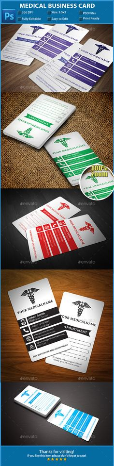 Medical Business Cards This is a fully customizable business card - medical business card templates
