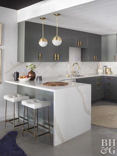 Kitchen Room Design, Luxury Kitchen Design, Home Decor Kitchen, Interior Design Kitchen, Kitchen Furniture, Home Kitchens, Kitchen Layout, Diy Kitchen, Modern Interior