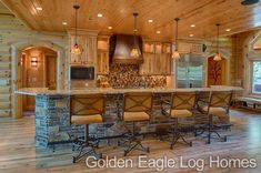 "Incredible kitchen of the Lakehouse 4166AL. Wow! Photos and floor plans are at <a href=""http://www.GoldenEagleLogHomes.com"" rel=""nofollow"" target=""_blank"">www.GoldenEagleLo...</a> <a class=""pintag searchlink"" data-query=""%23loghomeliving"" data-type=""hashtag"" href=""/search/?q=%23loghomeliving&rs=hashtag"" rel=""nofollow"" title=""#loghomeliving search Pinterest"">#loghomeliving</a> <a class=""pintag"" href=""/explore/construction/"" title=""#construction explore Pinterest"">#construction</a> <a class=""pintag searchlink"" data-query=""%23loghomes"" data-type=""hashtag"" href=""/search/?q=%23loghomes&rs=hashtag"" rel=""nofollow"" title=""#loghomes search Pinterest"">#loghomes</a> <a class=""pintag searchlink"" data-query=""%23loghome"" data-type=""hashtag"" href=""/search/?q=%23loghome&rs=hashtag"" rel=""nofollow"" title=""#loghome search Pinterest"">#loghome</a> <a class=""pintag searchlink"" data-query=""%23logcabins"" data-type=""hashtag"" href=""/search/?q=%23logcabins&rs=hashtag"" rel=""nofollow"" title=""#logcabins search Pinterest"">#logcabins</a> <a class=""pintag"" href=""/explore/cabin/"" title=""#cabin explore Pinterest"">#cabin</a> <a class=""pintag searchlink"" data-query=""%23logcabins"" data-type=""hashtag"" href=""/search/?q=%23logcabins&rs=hashtag"" rel=""nofollow"" title=""#logcabins search Pinterest"">#logcabins</a> <a class=""pintag"" href=""/explore/home/"" title=""#home explore Pinterest"">#home</a> <a class=""pintag"" href=""/explore/homes/"" title=""#homes explore Pinterest"">#homes</a> <a class=""pintag"" href=""/explore/houzz/"" title=""#houzz explore Pinterest"">#houzz</a> <a class=""pintag"" href=""/explore/outdoors/"" title=""#outdoors explore Pinterest"">#outdoors</a> <a class=""pintag"" href=""/explore/nature/"" title=""#nature explore Pinterest"">#nature</a> <a class=""pintag searchlink"" data-query=""%23rusticliving"" data-type=""hashtag"" href=""/search/?q=%23rusticliving&rs=hashtag"" rel=""nofollow"" title=""#rusticliving search Pinterest"">#rusticliving</a>"