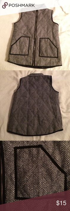 Herringbone Vest Tag says 2XL but it fits like a Large Jackets & Coats Vests