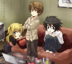 Kid Light, L, and Misa. Just imagine the series if they were in elementary or middle school.