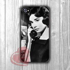 Audrey Hepburn On Telephone Case -srw for iPhone 4/4S/5/5S/5C/6/ 6+,samsung S3/S4/S5,samsung note 3/4