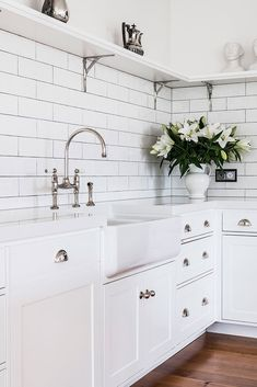 Helmores Lane | Kitchen | Detail By Davinia Sutton | The English Tapware Company Kitchen Taps, Double Vanity, Kitchen Design, English, Bathroom, Detail, Kitchen Faucets, Washroom, Cuisine Design