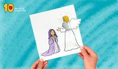 Carft of mother mary Matching Worksheets, Worksheets For Kids, Mother Mary, Quality Time, Nursery Rhymes, Gabriel, Crafts For Kids, Paper Crafts, Bible