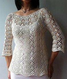 Crochet Summer Top Lacy Shells Stitch Pattern