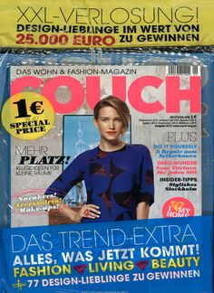 COUCH Ausgabe 09/2013 Stockholm, Couch, Movie Posters, Design, Tips, Settee, Film Poster, Popcorn Posters, Sofas