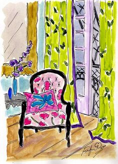 Another Pink Chair in Paris by Fifi Flowers