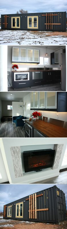 The Intellectual House: a 320 shipping container home #shippingcontainerhomes