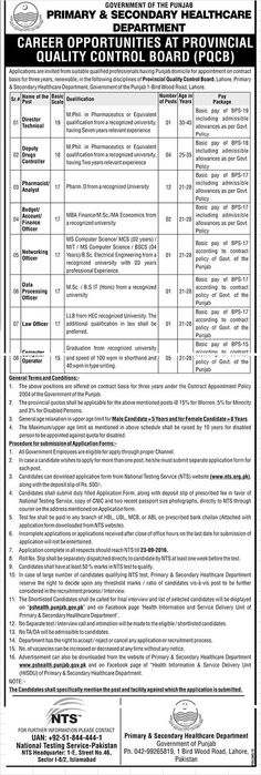Health Department Lahore Jobs In Ppsc  Jobs In Pakistan
