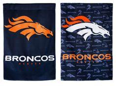 Denver Broncos Poly-Suede Garden Flag