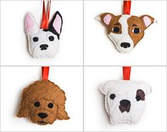 RESERVED for Marie C, Personalized Dog Ornament by Sklep on Etsy, Custom Felt Holiday Home Decor Gift Dog Pet Memorial