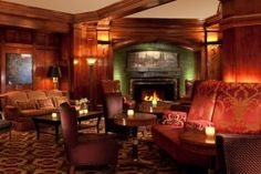 Sorrento Hotel's lobby in Seattle - American Arts & Crafts style.